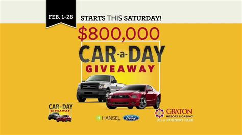 Car A Day Giveaway - graton resort casino car a day giveaway youtube