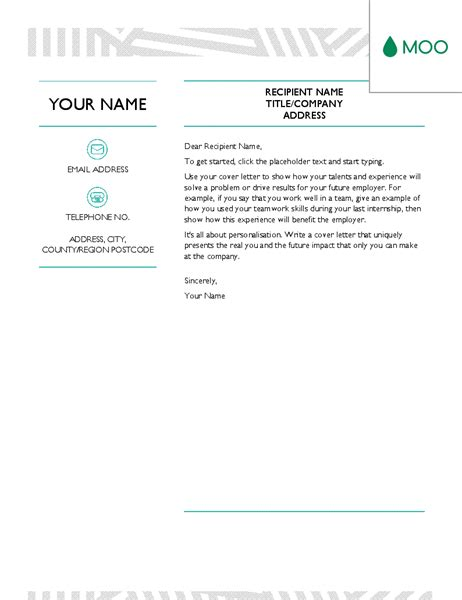 creative cover letters free templates for microsoft office suite office templates