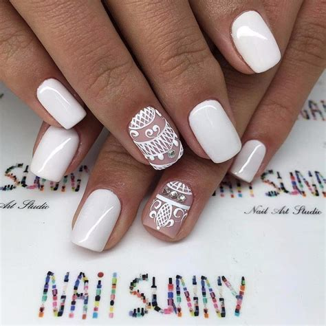 Wedding Ring Finger Nail Design by 266 Best White Nails Images On Gel Nail Nail