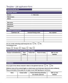 application template free printable sle printable application form 10 exles in