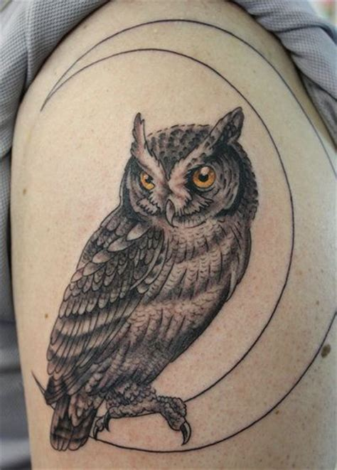 owl and moon tattoo 47 best owl and moon tattoos images on