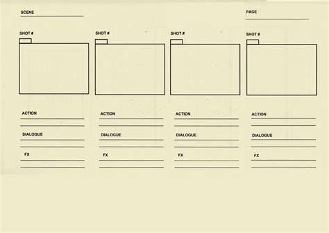 animation templates a basic storyboard template d source digital