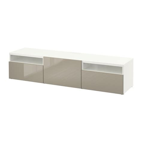ikea usa besta best 197 tv unit white selsviken high gloss beige