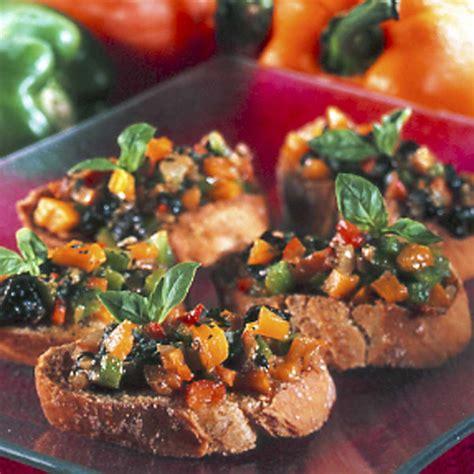 basilic cuisine recette bruschetta aux poivrons et basilic cuisine