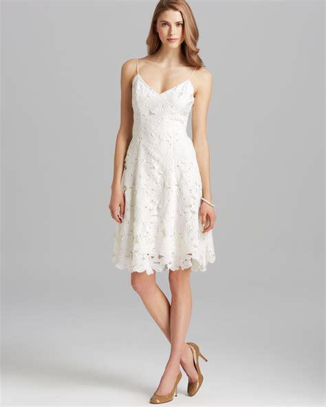 V Neck Spaghetti Lace Dress lyst vera wang dress v neck spaghetti lace fit