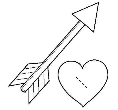 coloring page of bow and arrow dibujo de flecha y coraz 243 n para colorear dibujos net