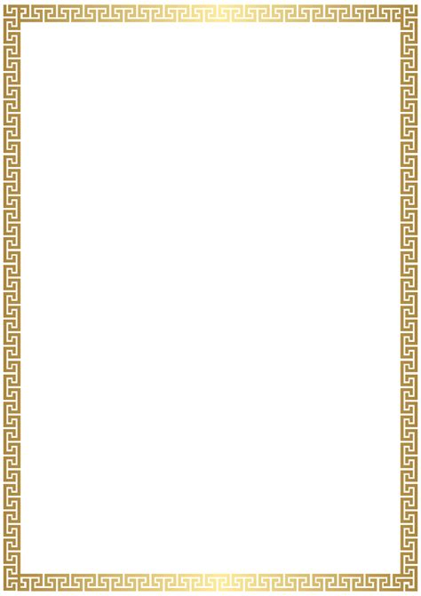 high quality clipart golden deco border transparent png clip gallery