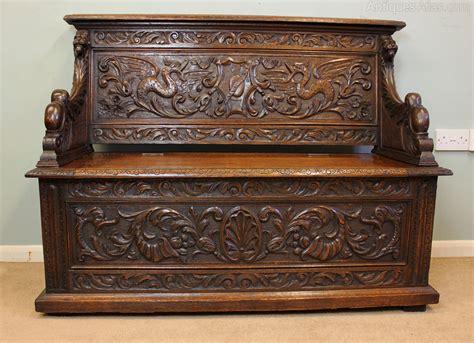 antique settle bench antique victorian box settle monks bench antiques atlas