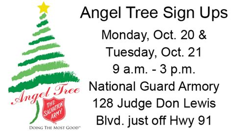 Salvation Army Marriage Records Tree Sign Ups Set For Monday And Tuesday At Armory