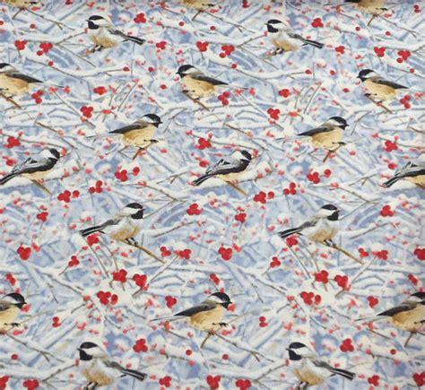 Bird Quilting Fabric by Bird Fabric Chickadee Fabric Sewing Fabric Quilting Fabric