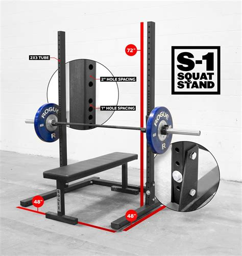 Rogue Squat Rack by Rogue S 1 Squat Stand Weight 72 Quot Squat Rack