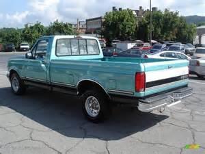 1995 Ford Truck Medium Calypso Green Metallic 1995 Ford F150 Xlt Regular
