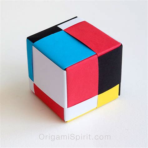 How Do You Make A Paper Cube - modular origami cube mondrian cube