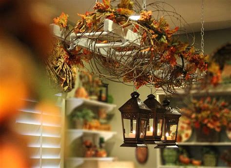 using fall leaves in home d 233 cor