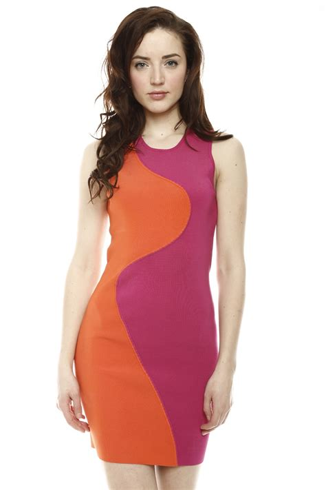 Two Color Dress 40382 two tone dress from georgetown by chic shoptiques