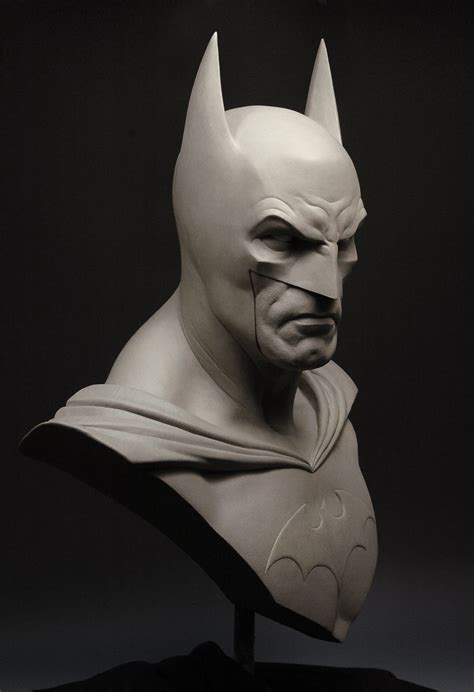 Painted Bedroom Furniture Ideas hand crafted life size batman bust by andy bergholtz