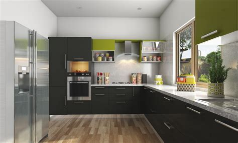 design l buy harmony l shaped modular kitchen online in india