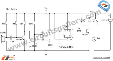 clap switch circuit using ne555 timer ic electronics