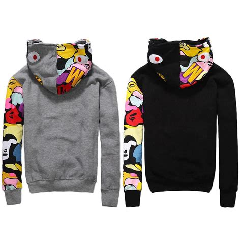 Vest Hoodie La Albiceleste 5h5j new bape jacket s shark zip hoodie sweater from japan bathing ape ebay