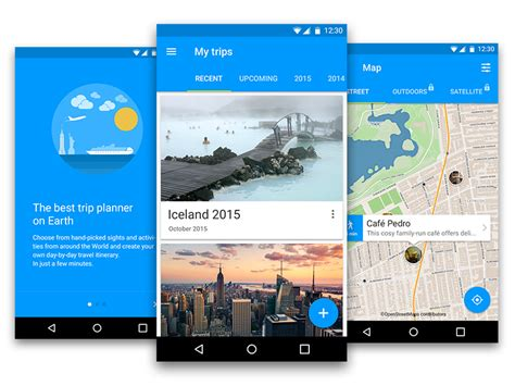 android material design freebiesbug tripomatic for android material design uplabs