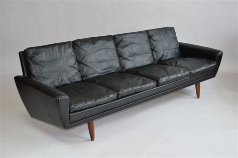 leather sofa legs danish leather sofa with rosewood legs for sale at 1stdibs
