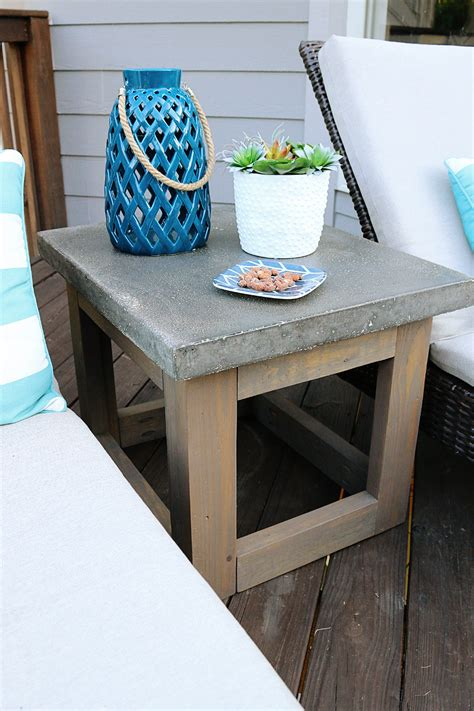 Side Table Ideas by Concrete Wood Outdoor Side Table Bower Power