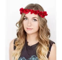 flower headband floral crown festival headband by frolicvintage on etsy