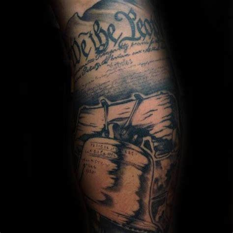 liberty bell tattoo designs  men patriotic ink ideas