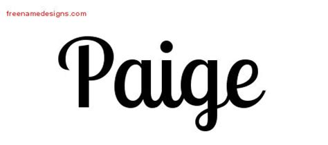 handwritten name tattoo designs paige free download free