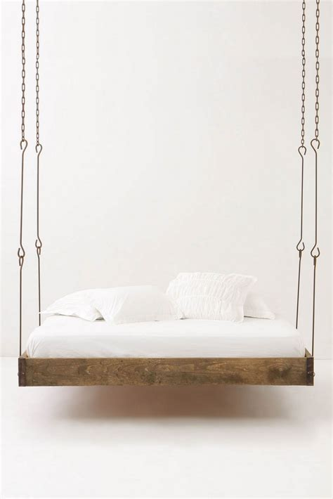 hanging beds barnwood hanging bed blue badger