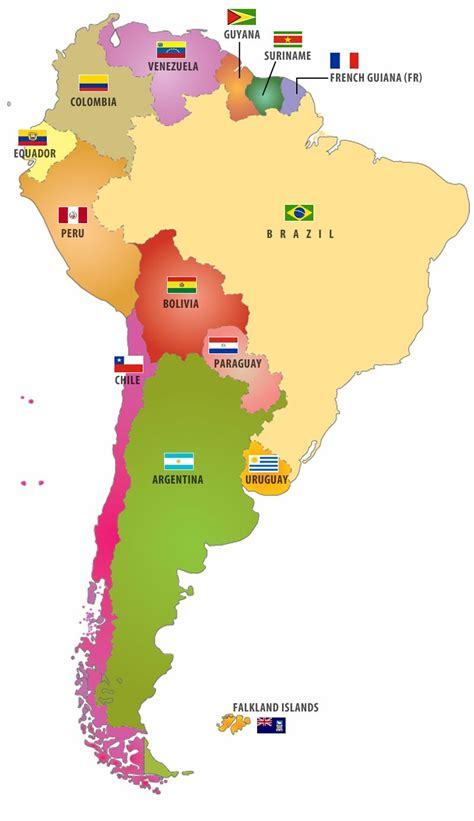 american countries map flags of south american countries also when you click on