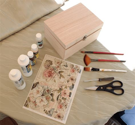 Decoupage Diy - diy project shabby chic decoupage storage box
