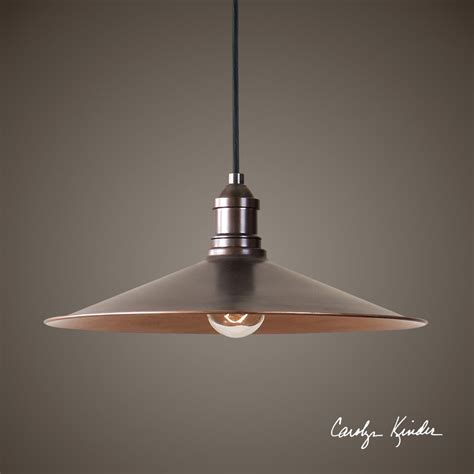 Copper Lighting Fixture 14 Quot Antique Copper Finish Pendant Light Ceiling Fixture Chandelier Industrial Ebay