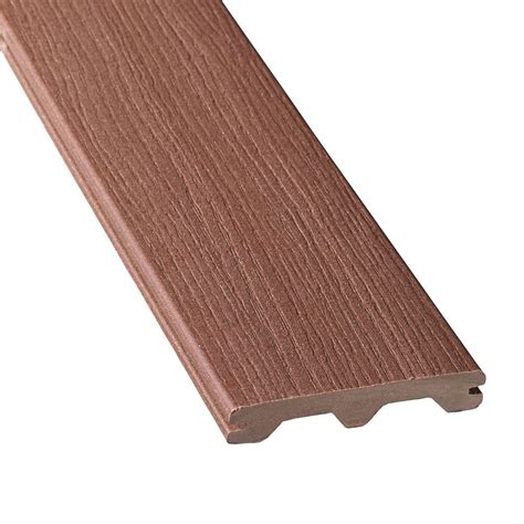 veranda 16 ft composite grooved decking walnut the
