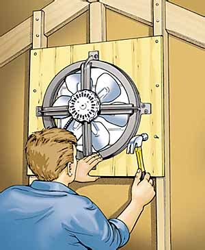 how to install an attic fan attic fan installation how to install an attic fan