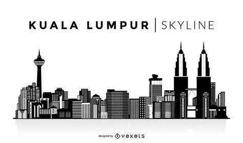 kuala lumpur silhouette skyline vector download