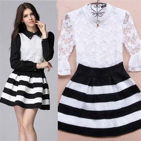 black and white high waisted skirt skirt ify