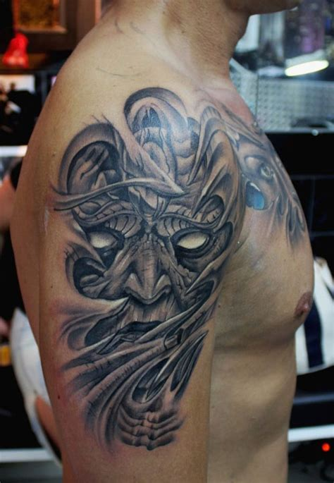 demon sleeve tattoo designs 30 tattoos creativefan