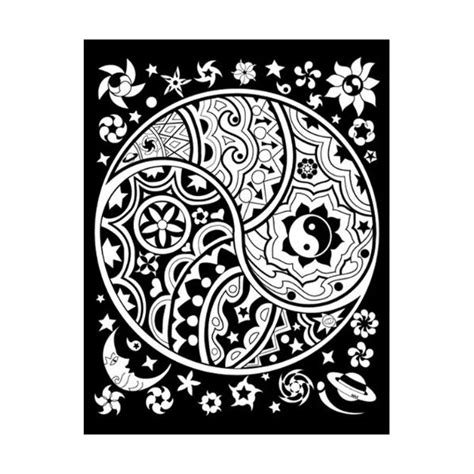trippy yin yang coloring pages 39 best images about yin yang on pinterest white gold