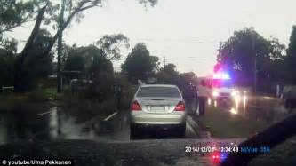 Lightning Falls On Car Tree Struck By Lightning Narrowly Misses Car Daily Mail