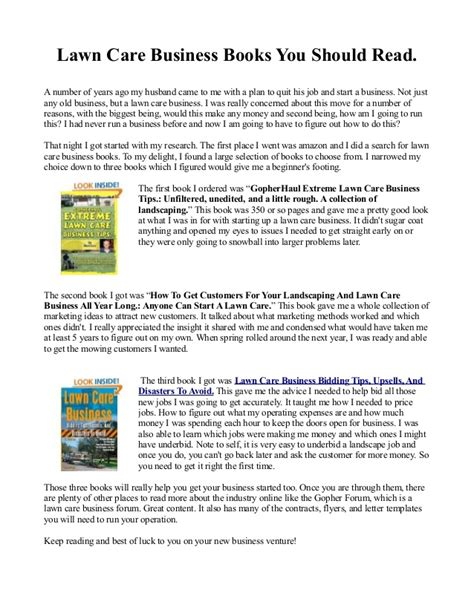best lawn care business books