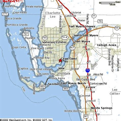 map of cape coral fl hammer construction co cape coral florida