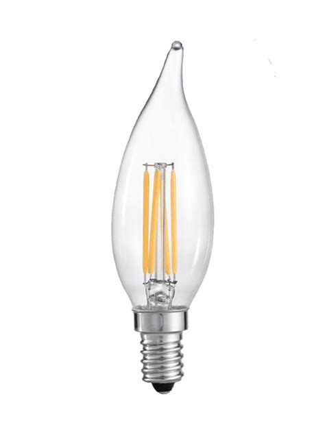 chandelier led bulb lighting ca10fil3wd 3 5 watt dimmable filament led