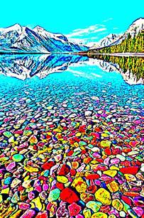 lake mcdonald montana colored rocks the beautiful and colorful pebble shore lake in glacier