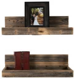 wall picture shelves hartland reclaimed wood shelves set of 2 farmhouse
