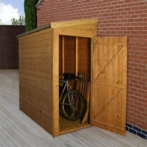 Small Bike Shed by 6 X 3 Waltons Tongue And Groove Pent Garden Storage Unit