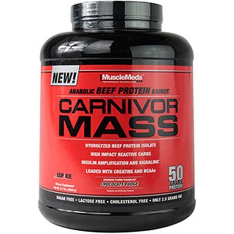 Carnivor Mass 10 Lbs Chocolate musclemeds carnivor mass chocolate fudge 5 7 lb
