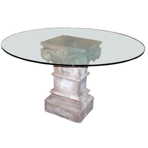 Pedestal Base For Granite Table pedestal table base