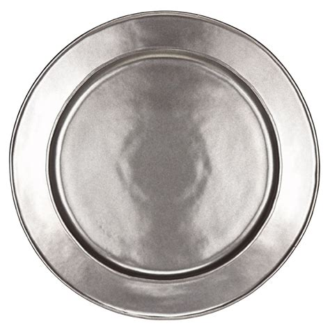 pewter chargers pewter stoneware charger plate