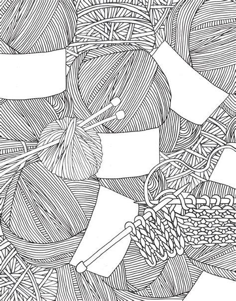 coloring book yarns yarn zentangle print coloring